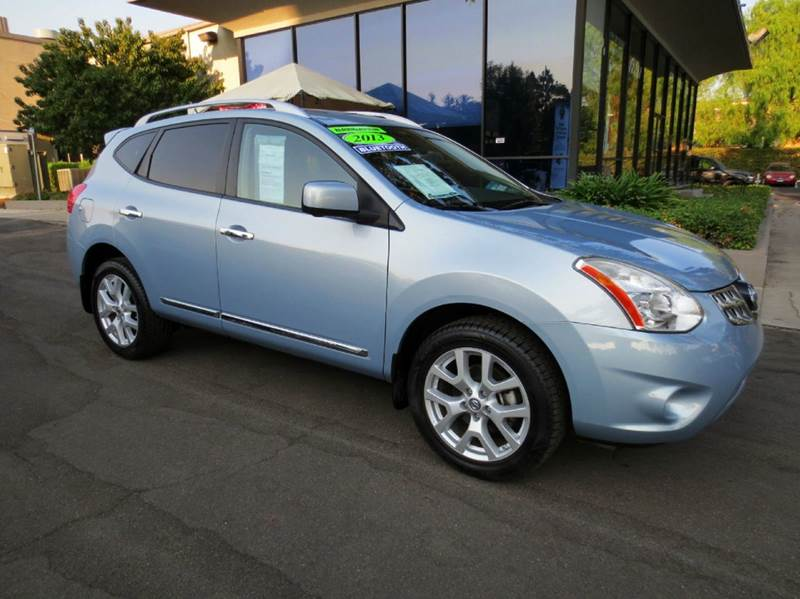 2012 NISSAN ROGUE S 4DR CROSSOVER graphite blue metalic like new loaded w navigation back up