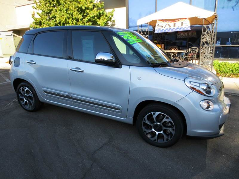 2014 FIAT 500L LOUNGE 4DR HATCHBACK silver nicely equipped with navigation leather carbon fiber