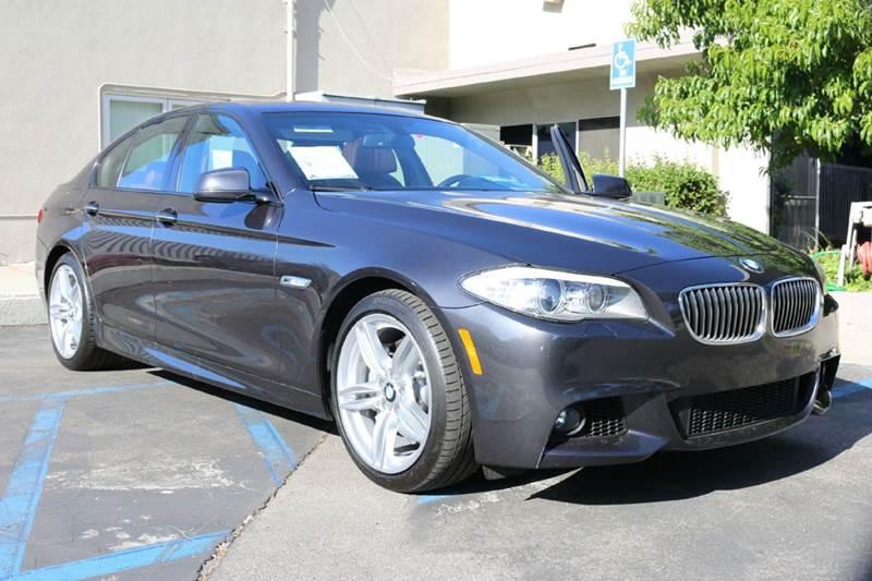 2013 BMW 5 SERIES 535I 4DR SEDAN dark graphite elegantly equipped 6 speed manual with m sport pkg