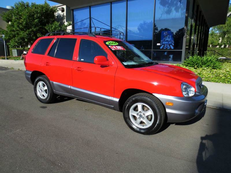 2004 HYUNDAI SANTA FE BASE FWD 4DR SUV red memorial day sale  nicely equipped suv with power gr