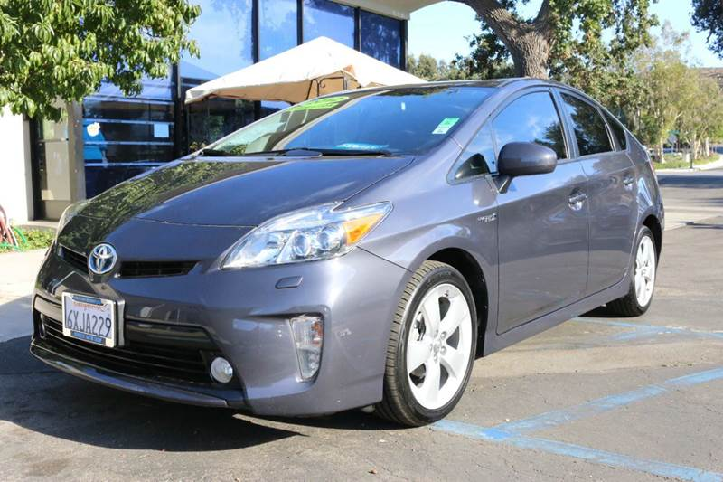 2012 TOYOTA PRIUS FOUR 4DR HATCHBACK gray   1 owner package 4 extra clean gas saver 51 mpg