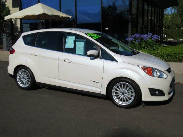 2013 FORD C-MAX HYBRID SEL 4DR WAGON white platinum nicely equipped with  navigation  power se