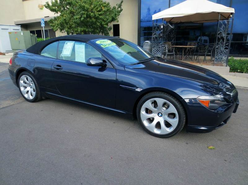 2007 BMW 6 SERIES 650I 2DR CONVERTIBLE blue luxury and performance on a grand scale premium and s