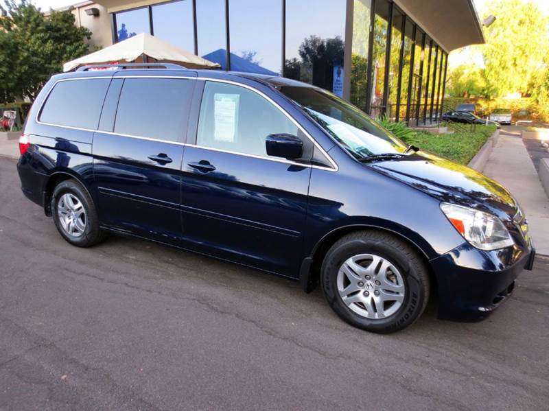 2007 HONDA ODYSSEY EX-L WDVD 4DR MINI VAN WDVD blue nicely equipped with rear entertainment dvd