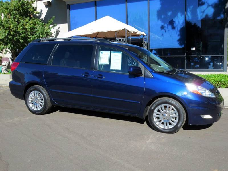 2007 TOYOTA SIENNA XLE 7-PASSENGER 4DR MINI VAN blue comfortably equipped with rear air condition