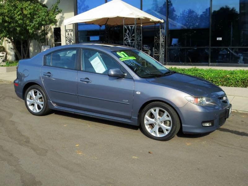 2007 MAZDA MAZDA3 S GRAND TOURING 4DR SEDAN 23L gray look no more nicely equiped with sport to