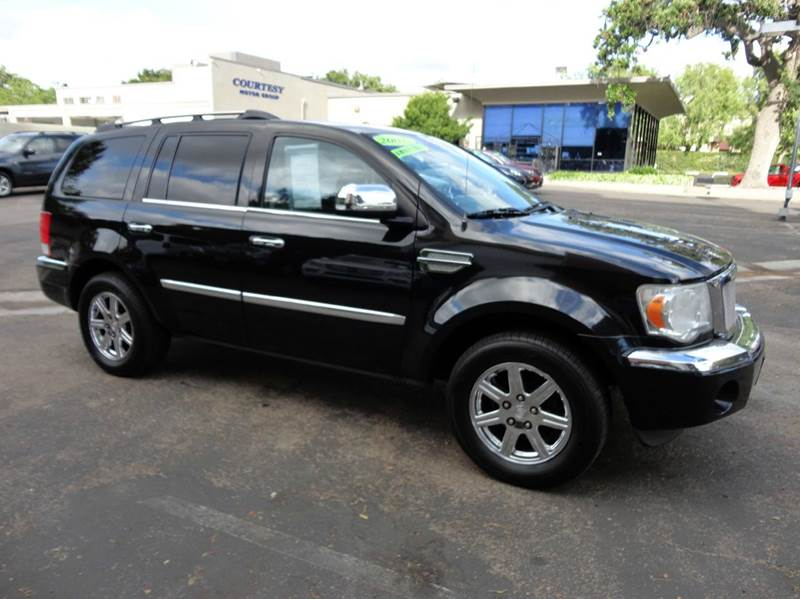 2007 CHRYSLER ASPEN LIMITED 4X2 4DR SUV black nicely equipped 7 passenger with navigation rear d