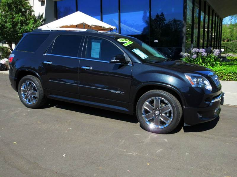 2012 GMC ACADIA DENALI 4DR SUV black well equipped with  technology pkg  bose premium sound