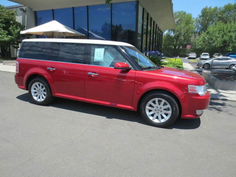 2010 FORD FLEX SEL 4DR CROSSOVER red candy metallic nice low mileage with leather 3rd row seat