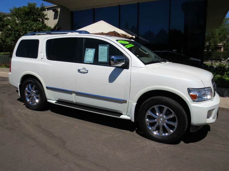2010 INFINITI QX56 4X4 4DR SUV white nicely equipped 4wd with navigation rear entertainment dvd