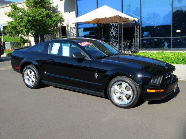 2007 FORD MUSTANG V6 PREMIUM 2DR COUPE black equipped with  shaker premium sound  power seats