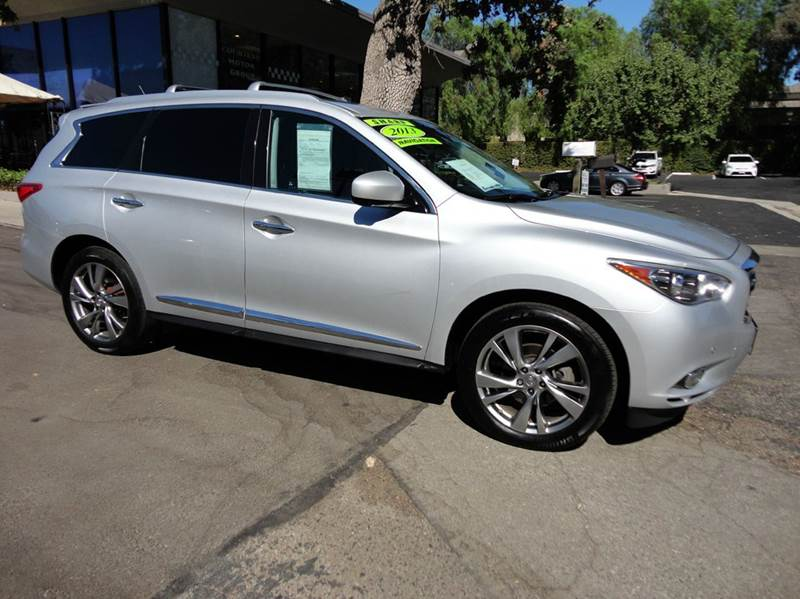 2013 INFINITI JX35 BASE AWD 4DR SUV silver nicely equipped awd with theater pkg touring pkg tech
