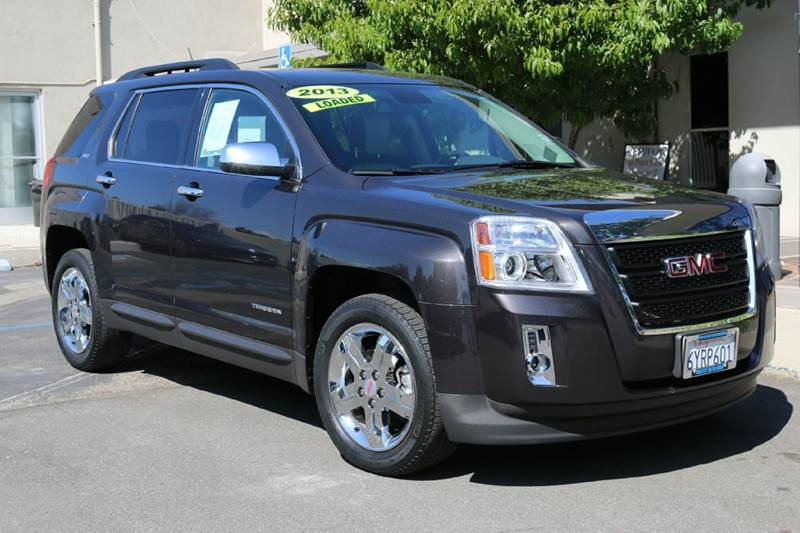 2013 GMC TERRAIN SLT-1 4DR SUV black nicely equipped with navigation leather chrome wheels bac