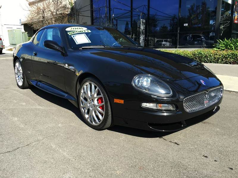 2006 MASERATI GRANSPORT 2DR COUPE black pristine in and out   option list skyhook suspension p