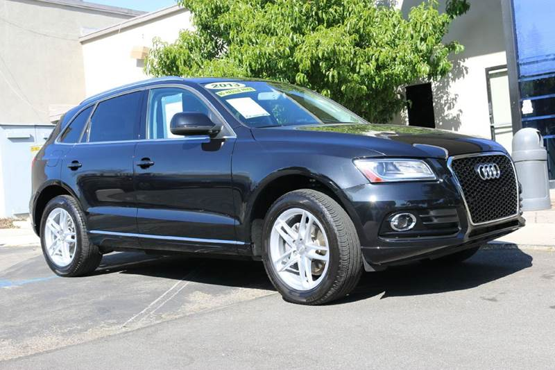 2013 AUDI Q5 20T QUATTRO PREMIUM PLUS AWD 4D black nicely equipped plus pkg with navigation pan