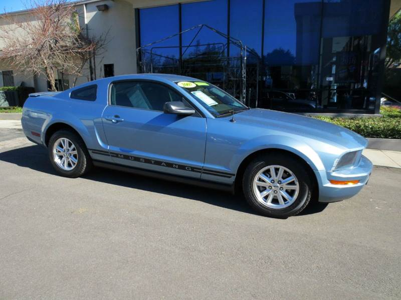 2007 FORD MUSTANG V6 DELUXE 2DR COUPE blue sporty and affordable fun clean title full power re