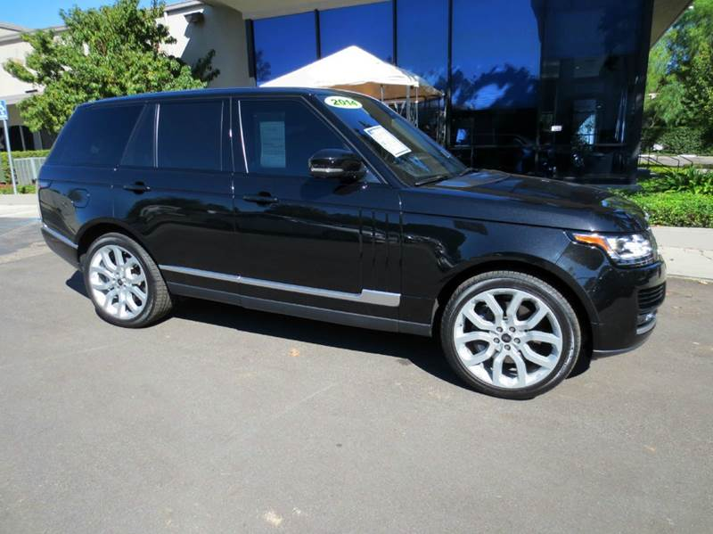 2014 LAND ROVER RANGE ROVER SUPERCHARGED 4X4 4DR SUV santorini black elegantly equipped with rear