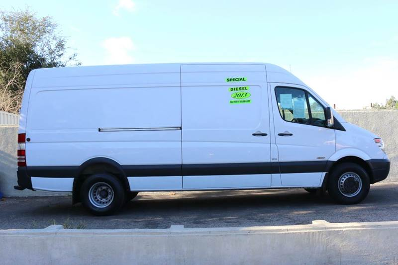 2013 MERCEDES-BENZ SPRINTER CARGO 3500 170 WB 3DR DRW EXTENDED CAR white extended w170 wheel bas