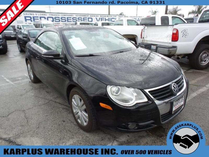 Volkswagen Eos For Sale In California Carsforsalecom - Volkswagen in california