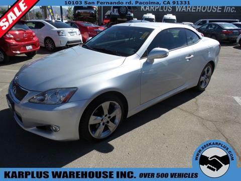 2010 Lexus IS 250C for sale in Pacoima, CA
