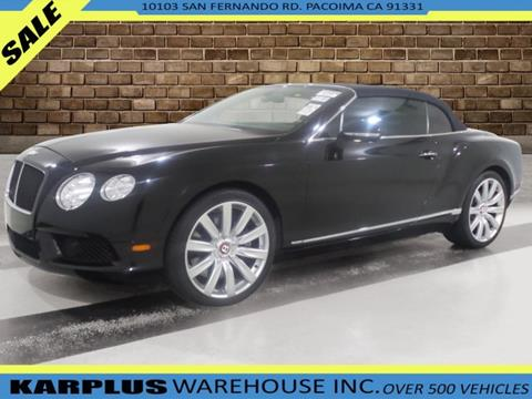 2013 Bentley Continental GTC V8 for sale in Pacoima, CA