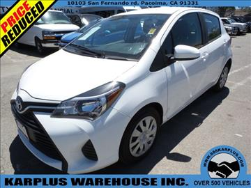 2015 Toyota Yaris for sale in Pacoima, CA