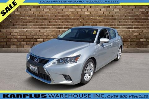 2016 Lexus CT 200h for sale in Pacoima, CA