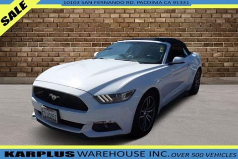 2015 Mustang For Sale >> 2015 Ford Mustang For Sale In Pacoima Ca