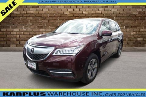 Mdx For Sale >> 2016 Acura Mdx For Sale In Pacoima Ca