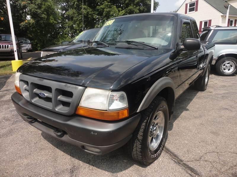 1998 FORD RANGER XLT 2DR 4WD EXTENDED CAB SB black 1998 ford ranger - this one has the 40 liter
