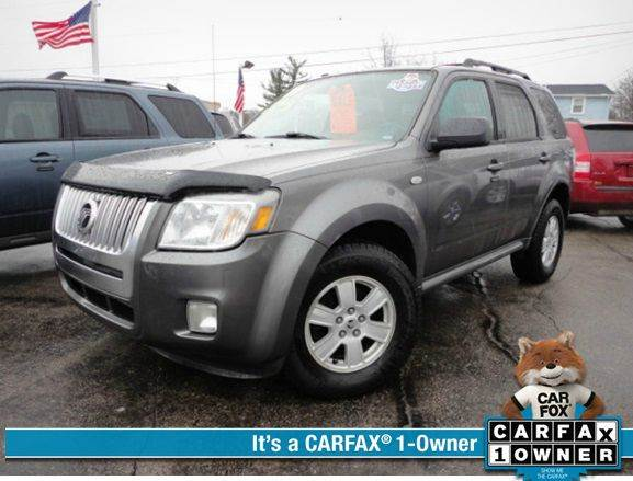 2009 MERCURY MARINER V6 4DR SUV gray  2009 mercury mariner   one owner clean carfax new miche