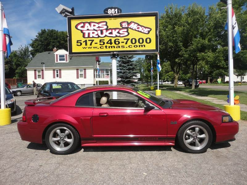 2003 FORD MUSTANG GT DELUXE 2DR COUPE burgundy 2003 ford mustang gt -  stickshift with full 2-12