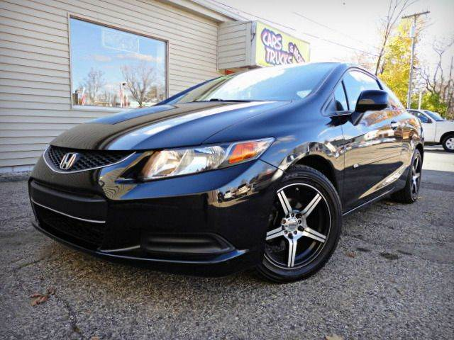 2012 HONDA CIVIC LX COUPE black hawk pearl factory warranty - low miles - clean carfax only two p