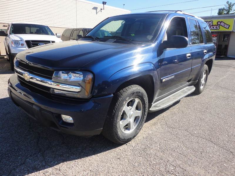 2003 CHEVROLET TRAILBLAZER LT 4WD 4DR SUV blue  local trade   clean 2003 chevy trailblazer 4wd