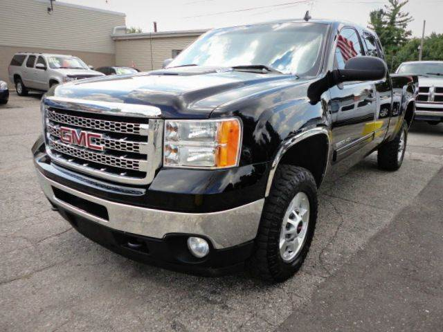 2012 GMC SIERRA 2500HD SLE 4X4 EXTENDED CAB SB carbon black metallic  stylish and redesigned 201