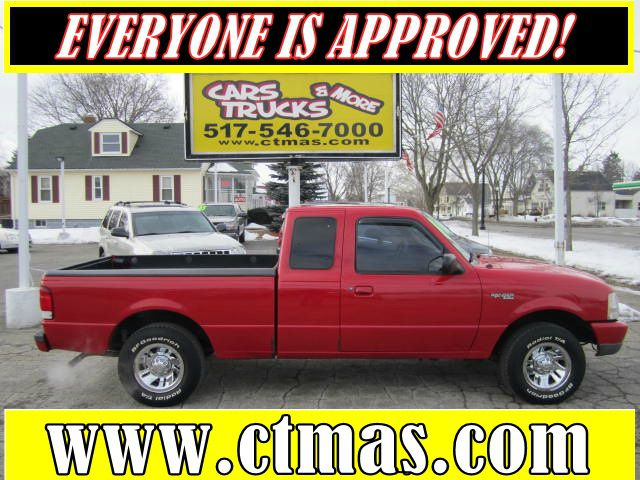 1999 FORD RANGER XL SUPERCAB 2WD red nice clean two owner compact pickup truck - rust free used