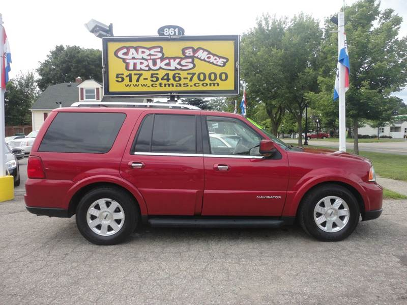 2005 LINCOLN NAVIGATOR LUXURY 4WD 4DR SUV burgundy abs - 4-wheel adjustable pedals - power air
