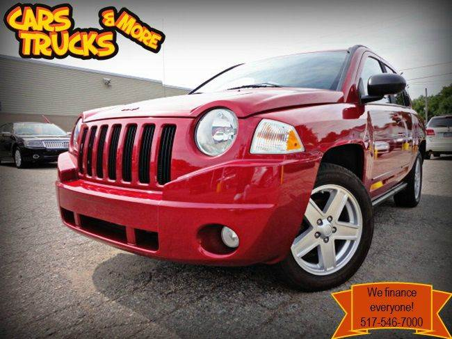 2010 JEEP COMPASS SPORT 4X4 4DR SUV inferno red crystal pearlcoat clean carfax 2010 jeep compass
