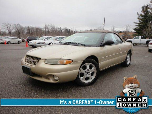 1999 CHRYSLER SEBRING JXI 2DR CONVERTIBLE gold one owner - no accident - southern kept vehicle 1
