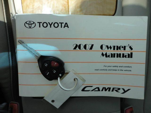 2007 TOYOTA CAMRY XLE V6 4DR SEDAN blue ribbon metallic  2007 toyota camry  4 door xle v6 sedan