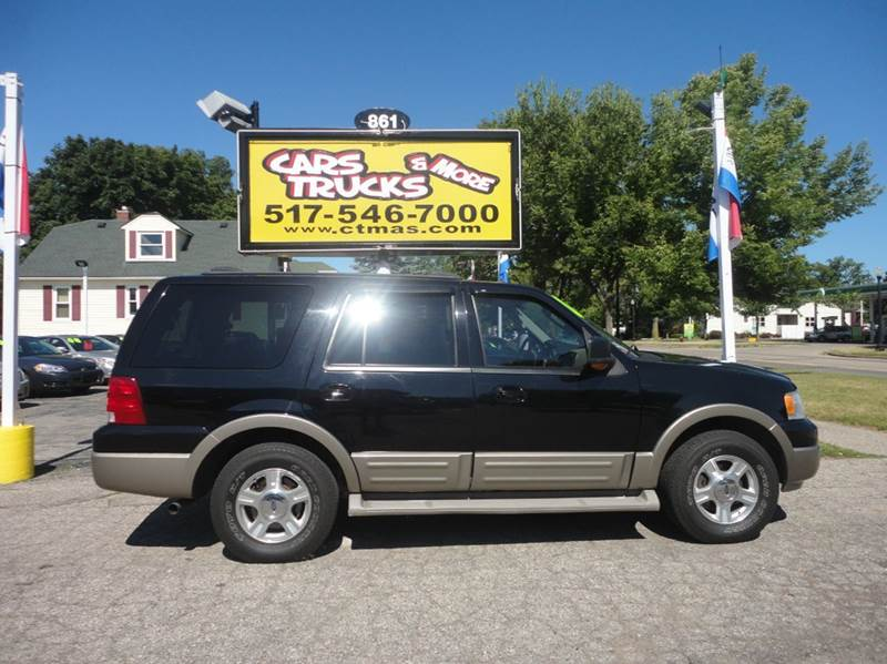 2004 FORD EXPEDITION EDDIE BAUER 4WD 4DR SUV black abs - 4-wheel adjustable pedals - power anti