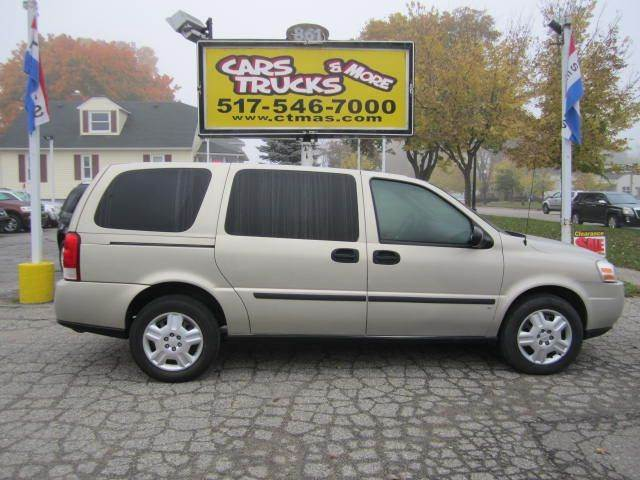 2008 CHEVROLET UPLANDER CARGO tan 2008 chevrolet uplander cargo clean autocheck report with only