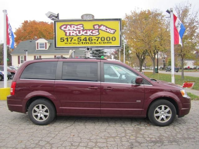 2008 CHRYSLER TOWN AND COUNTRY TOURING MINI VAN PASSENGER burgundy beautiful 2008 chrysler town