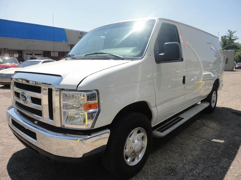 2014 FORD E-SERIES CARGO E-250 3DR CARGO VAN white low mileage 2014 ford e150 cargo van with only