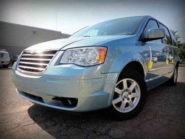 2010 CHRYSLER TOWN AND COUNTRY TOURING 4DR MINI VAN clearwater blue pearlcoat clean autocheck - no