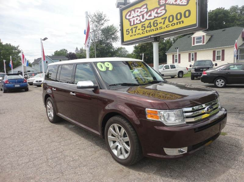 2009 FORD FLEX LIMITED AWD SUV 4DR burgundy  loaded   2009 ford flex limited with awd leather