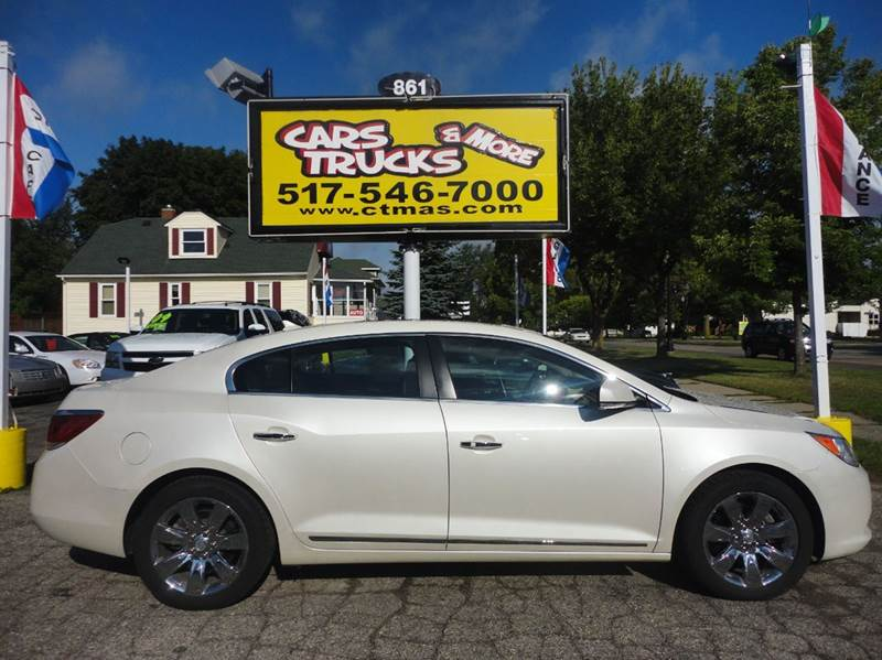 2011 BUICK LACROSSE CXS 4DR SEDAN white  2011 buick lacrosse  2-stage unlocking - remote abs -