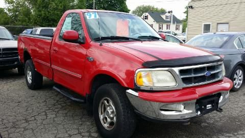 1997 FORD F-150 BASE 2DR STD 4WD STANDARD CAB LB red new to our inventory 1997 ford f-150 4x4 reg