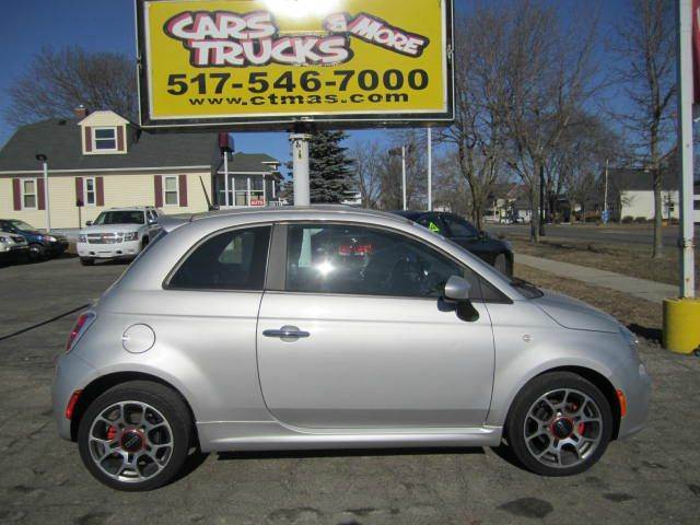 2012 FIAT 500 SPORT 2DR HATCHBACK silver  sporty  2012 fiat 500 with sport package 2 door hatch