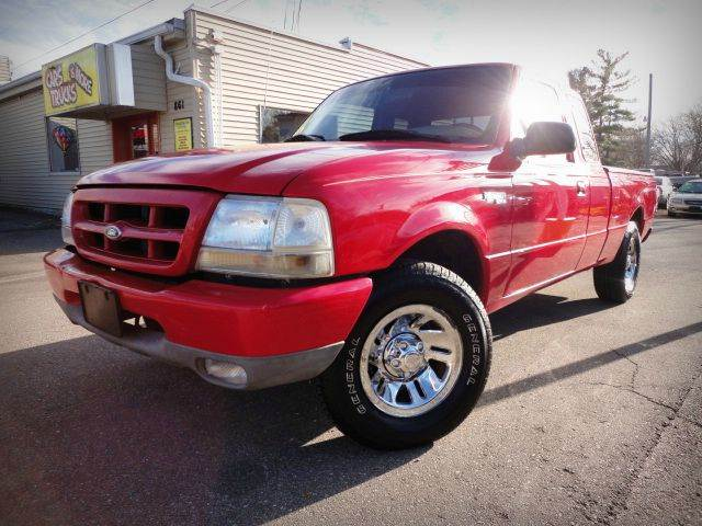 1999 FORD RANGER XLT  EXTENDED CAB SB bright red nice used budget pickup truck this 1999 ford r